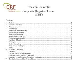 Image of CRF Constitution