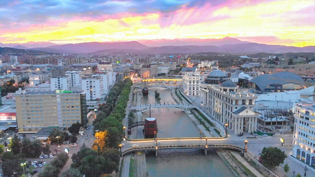 Centre of Skopje, Macedonia.