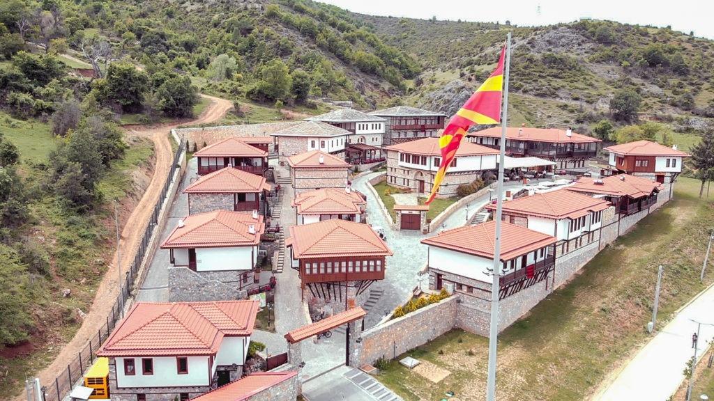Macedonian Etno Village architecture.