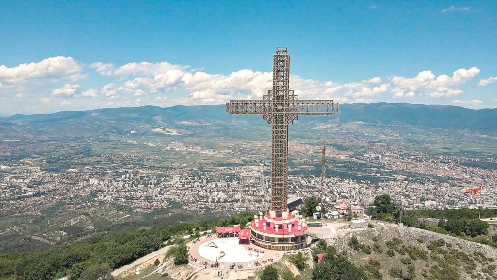 The Millennium Cross - Vodno Mountain, Skopje.