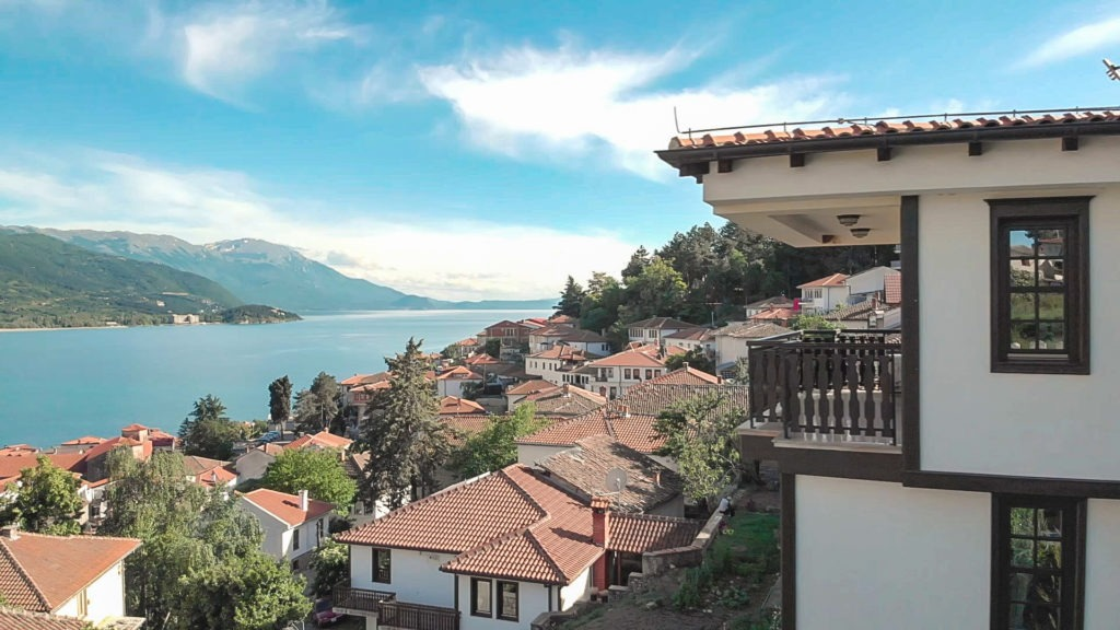 View of Lake Ohrid.