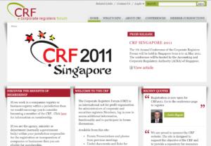 Screenshot of second CRF website.