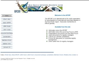 APCRF Website Screenshot