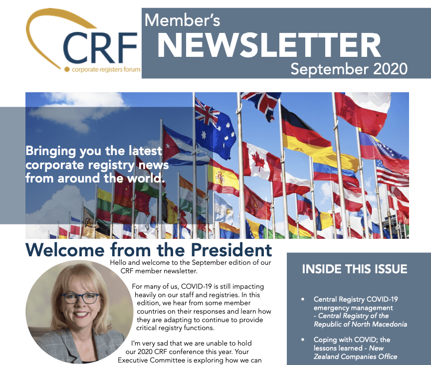 September 2020 CRF Newsletter