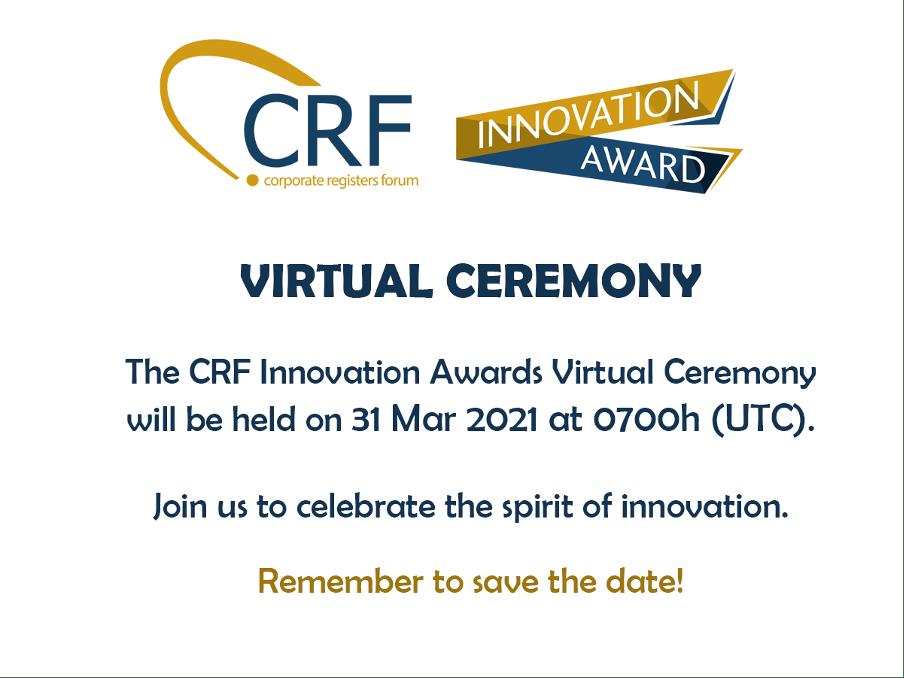 CRF Innovation Awards Virtual Ceremony