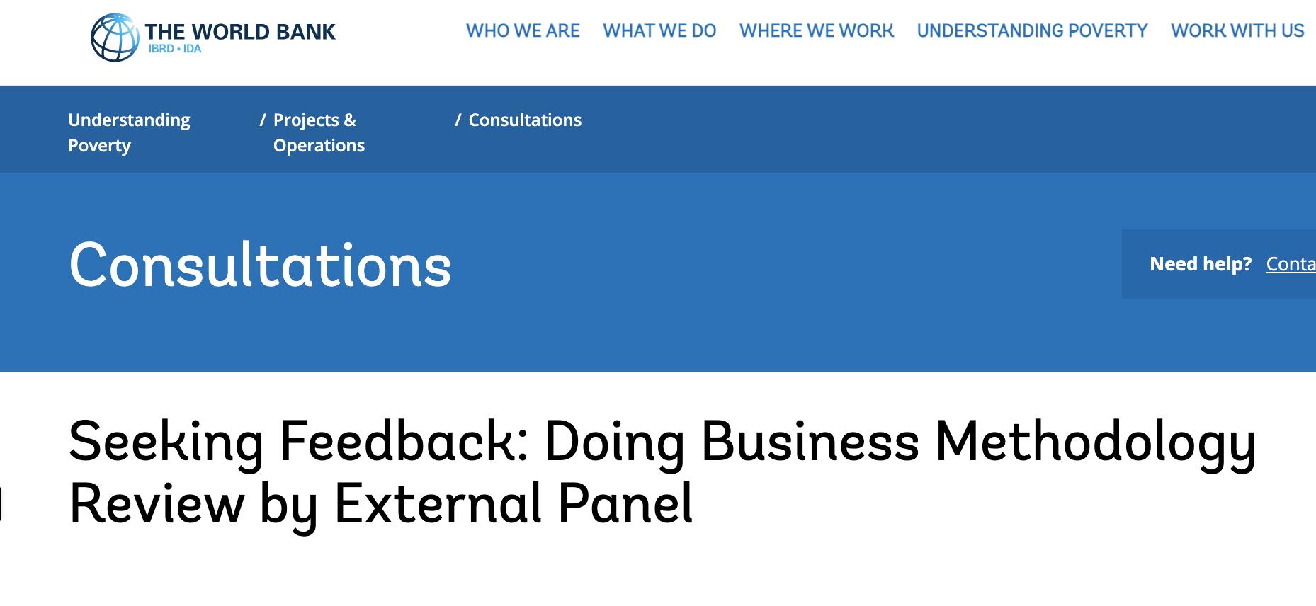 World Bank Consultation Image